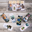 4254 Women Socks  3D, Animals Full - Print