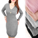 4215 Romantic  Dress, Warm Knitwear, Wool