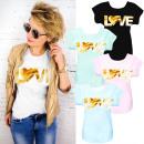Großhandel Shirts & Tops: N067 Baumwollbluse, Light Top, Golden ...