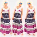 Großhandel Kleider: C17704 Romantisches Damen Maxikleid, Spitze, ...