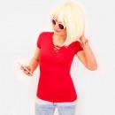 Großhandel Shirts & Tops: R76 Effective Women Top, Schnürausschnitt