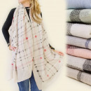 wholesale Scarves & Shawls: FL114 ethereal  SCARF, FINE GRILLE MIX