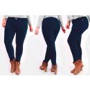 Großhandel Hosen: B16786 Schicke Damenjeans mit Löchern, Plus Size N