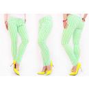 wholesale Belts: B16735 Slimming Women Jeans, Lime Stripes