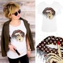 -Baumwoll Frauenhemd, S - L, Berühmtheit, K631