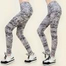 4092 Leggings, FITNESS PANTS, marbled IPATTERN