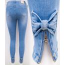 Großhandel Jeanswear: B16813 Damenjeans, Sliders und Bögen, Blau