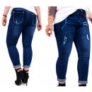 wholesale Jeanswear: Plus Size Women's Jeans, with Ripped, B16856