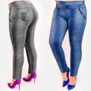 Großhandel Hosen: C17632 Abnehmen der Frauenhose, große Größe, Jeans