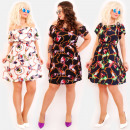 C17551 Romantisches Kleid in Übergröße, Ketten