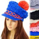 A1216 Frauen Kappe, Mütze, reizend Perlen