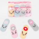 4575 Cotton Kids Socks, Feets, Rabbits Pattern