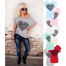 mayorista Ropa / Zapatos y Accesorios: N060 Blusa De Algodón, Top, Gran Corazón, Colores