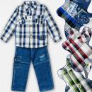 A19198 Conjunto elegante para niño, jeans, 2 parte