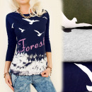 wholesale Shirts & Blouses: K448 Cotton Blouse, Long Sleeve, Forest