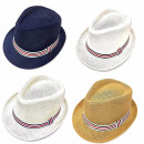 nagyker Ruha és kiegészítők: Nyári strand kalap, sapka szalaggal, A18105