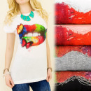 wholesale Shirts & Tops: K607 Charming Ladies Shirt, Butterfly Lipstick ...