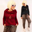 ingrosso Ingrosso Abbigliamento & Accessori: A8114 Maglione corto con dolcevita ...