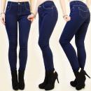 wholesale Jeanswear: B16442 VERY  ELEGANT PANTS JEANS, NAVY CHIC