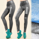 Großhandel Jeanswear: 4180 Leggings wie Jeans, Patches, 3D-Effekt