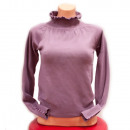 wholesale Pullover & Sweatshirts: Womens Cashmere Sweater S-XL, Frills, D14118