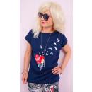 K522 Baumwollhemd für Frauen, Top, Love is Leben