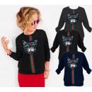 N069 schöne baumwolle frauen sweatshirt, glänzend