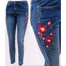 mayorista Ropa / Zapatos y Accesorios: B16756 Jeans Mujer, Bordados Florales Y Jets