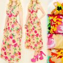 C1792 SUMMER DRESS, Envelope neckline, FLOWERS