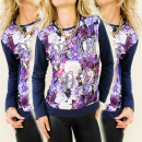 K146 SHIRT, LONG  SLEEVE, COLORFUL FLOWERS