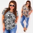 Großhandel Hemden & Blusen: C11522 Lose Bluse in Übergröße, geometrisches Must