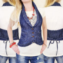 wholesale Coats & Jackets: C11163 BEAUTIFUL  JEANS VEST, GIRLS VEST BELOVED