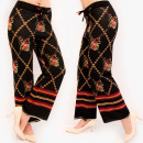 A875 Damenhose, Hose, Arabian Style, Schwarz