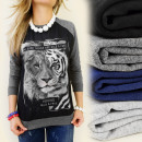 ingrosso Ingrosso Abbigliamento & Accessori: K207 bello  camicetta, stampa  foto LION TIGER ...