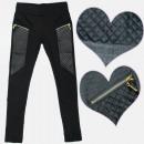 Großhandel Haushalt & Küche: A19150 Mädchenhose, Kunstledereinsätze
