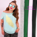 Großhandel Fashion & Accessoires: Baumwoll-Damenhemd bis 4XL, Goldene Feder