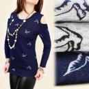 Großhandel Hemden & Blusen: C11134 BLUSE, TUNIKA, SOLLTE ARM, STRICK