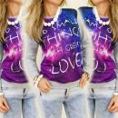 K143 COLOR, GIRLS  sweatshirt, PRINTING, MIX