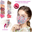 Protective Mask with Filter Pocket, Colors, D5887