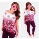 wholesale Shirts & Blouses: C11508 Romantic Plus Size Blouse, Summer Roses