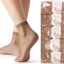 Großhandel Angler-Bedarf: Ultradünne Bambus Damen Socken, Beige, 35-42, 4943