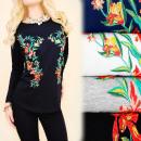 wholesale Shirts & Blouses: K462 Autumn  Blouse, Top, Long Sleeve, Folk Flowers