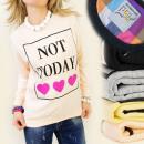 Großhandel Pullover & Sweatshirts: K217 SWEATSHIRT, Baumwolle , NADRUK - NICHT HEUTE