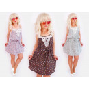 hurtownia Fashion & Moda: C17489 Letnia Luźna Sukienka, Ramiączka i Koronka