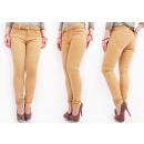 B16736 Pantalon Jeans Caramel Elégant Femmes