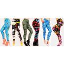Großhandel Hosen: 4296 Leggings, Bambusfaser, fröhliche Muster