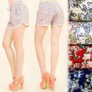 wholesale Fashion & Mode: FL481 Light  Shorts, Pattern - Romantic Flowers