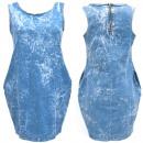 Baumwoll Damen Jeans Kleid, UNI, 5264