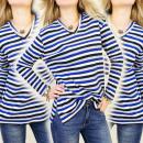 Großhandel Hemden & Blusen: K280 WARM BLOUSE V-Ausschnitt, Streifenmuster, GNC