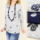 Großhandel Fashion & Accessoires: C11105 LOOSE  BLOUSE, TUNIKA, Modell in ROSIE